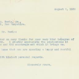 Letter : 1936 August 6