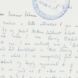 Letter : 1941 May 2