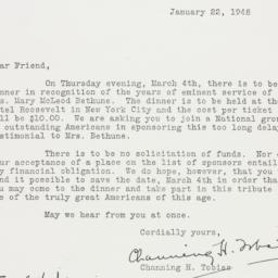 Letter : 1948 January 22