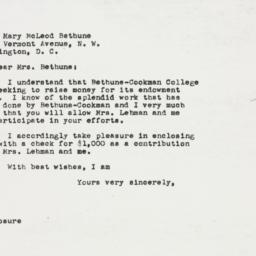 Letter : 1949 November 30
