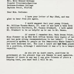 Letter: 1950 May 31