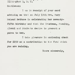 Letter: 1950 July 6