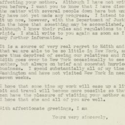Letter : 1945 May 1