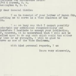 Letter : 1951 March 13