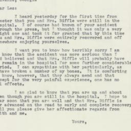 Letter: 1953 April 9