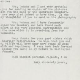 Letter: 1954 December 16