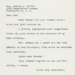 Letter: 1960 April 4