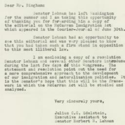 Letter : 1952 July 14