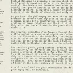 Letter: 1945 November 14
