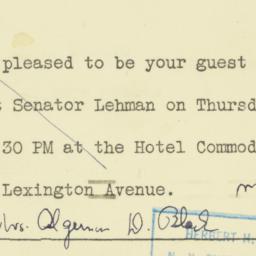 Invitation : 1950 September 26