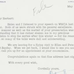 Letter : 1954 May 10