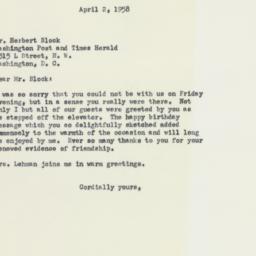 Letter: 1958 April 2