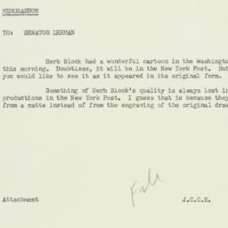 Memorandum : 1958 October 21
