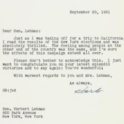 Letter : 1961 September 20