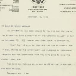 Letter : 1937 November 19