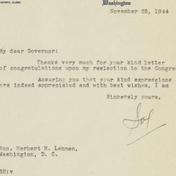 Letter: 1944 November 25