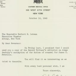 Letter : 1940 October 16