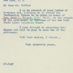 Letter : 1942 November 5