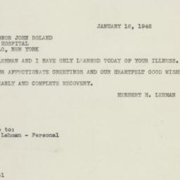 Letter : 1946 January 16