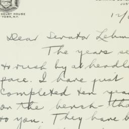 Letter : 1951 December 6