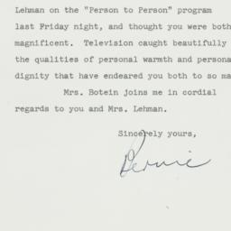 Letter : 1957 January 28