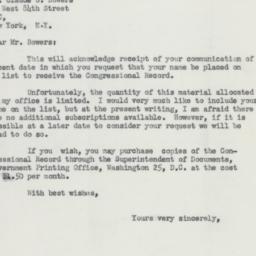 Letter : 1954 February 19