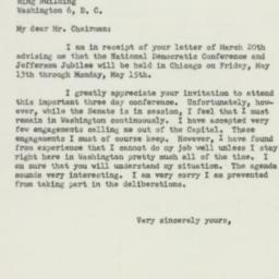 Letter : 1950 March 25