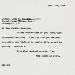 Letter : 1938 April 7