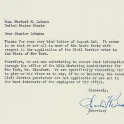 Letter : 1950 August 16