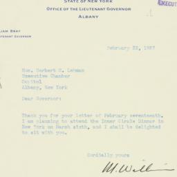 Letter : 1937 February 22