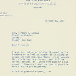 Letter : 1937 October 19