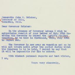 Letter : 1939 July 20