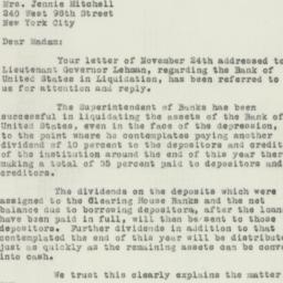 Letter : 1932 December 1
