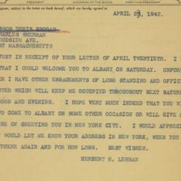 Telegram : 1942 April 23