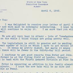 Letter : 1942 April 6