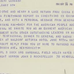 Telegram : 1941 May 28