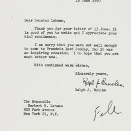Letter : 1960 June 15