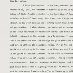 Letter : 1951 September 24