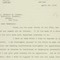 Letter : 1933 April 24