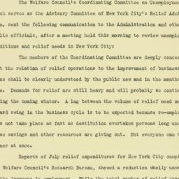 Press Release: 1933 August 18