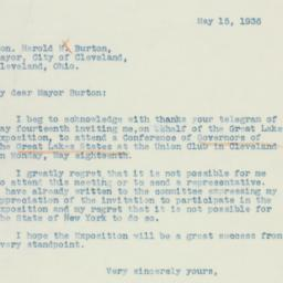 Letter : 1936 May 15