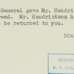 Memorandum : 1945 February 10