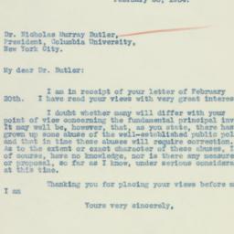 Letter: 1934 February 26