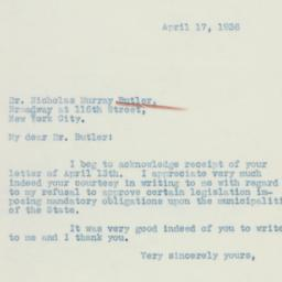 Letter : 1936 April 17