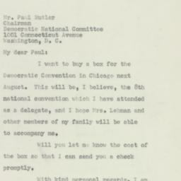 Letter: 1956 April 9