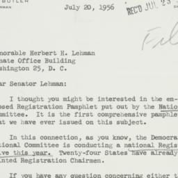 Letter: 1956 July 20