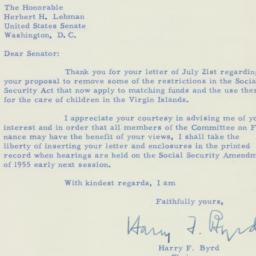Letter : 1955 August 2