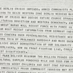 Telegram : 1950 March 29