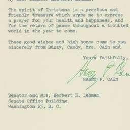 Letter: 1951 December 15