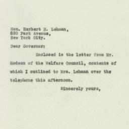 Letter : 1930 April 14